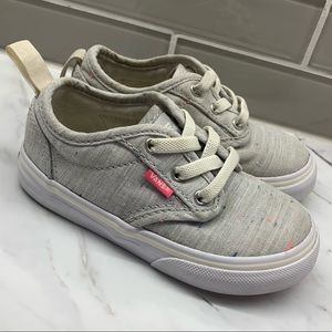 Toddler girl vans sneakers gray